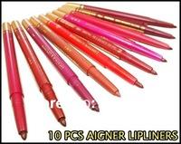 10 Colors AIGNER Lipgloss Lipliner Pencil Lip Stick Free Shipping