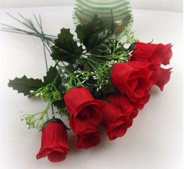 الزهور Silk-flower-red-rose-flowers-artifical-flower-free-shipping-by-EMS