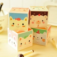 Creative Korea stationery super adorable animal boxed notes this paper note book cute stickers Loose-leaf 4pcs/lot free shipping