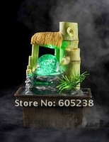 Free shipping Water Fountain USB bamboo fountain with flowing water