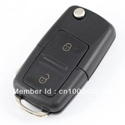 REPLACEMENT 2 BUTTON FLIP KEY CASE FOR VW VOLKSWAGEN GOLF MK4 BORA REMOTE KEY(China (Mainland))
