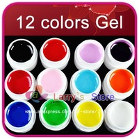 Free Ship 2x 12 Colors UV Gel For Nail Art Mix Pure Buliding Polish Set Solid Pigment Builder Milky Acrylic Tips Glue Manicure