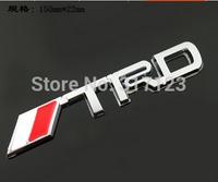 (20pcs/lot) 3d Metal TRD Sport Car Emblems Badge for TOYOTA Decal On Car Stickers   Bumper Sticker Fromtrd trd  emblem