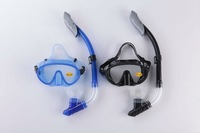 FREE SHIPPING!  diving mask and dry snorkel high quality silicone  snorkel set, snorkling equipment snorkeling gear