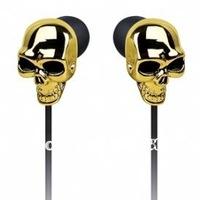 Free shipping 20pcs/lot Merkury Innovations Skull Earbuds Ear buds