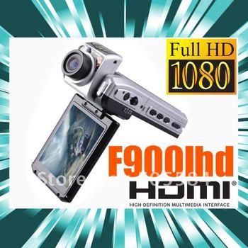 FULL HD 1080P DVR Car Video, F900LHD Vehicle Car DVR camera 12M Pixel Auto DVR recorder FL night vision HDMI Cable F900