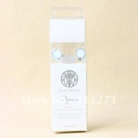 Free Shipping New Arrvial 3.5mm Stereo Earphone Headphone Round Crystal White JM031