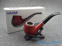 New 1pcs Wood Pipe Smoking Pipe With Iron Bowl Red HG-685 Gift Promotion