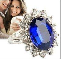 Sapphire BLUE diamond rings prince william engagement ring princess diana engagement ring