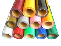 "5 Rolls 20"" x3' Heat Transfer PU Vinyl With Sticky Back 33colors Cutter Press"