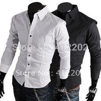 Free Shipping2012  New Mens Shirt+ Men's Casual Slim Fit Stylish Hot Dress Shirts ,long-sleeved(A01)