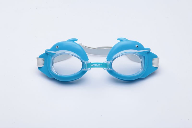 Wave high quality water sport goggles for kids children youth Anti-UV400 Mirror 1pic DOLPHIN NEW(China (Mainland))