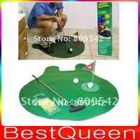 POTTY PUTTER NOVELTY FORUM GOLF MAT SET BATHROOM GAME GREAT GIFT