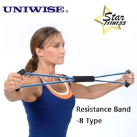 Tube Workout Exercise Elastic Yoga Resistance Band Fitness Equipment -8 Type