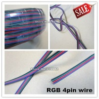 10m/lot, RGB 4pin cable wire for LED RGB strip, 22AWG RGB 4 colors wire, 4pin Tinned copper extend wire, 10 meters, free ship