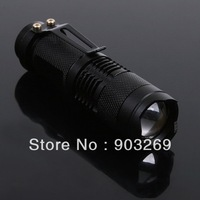 1pc SA-3 Mini Flashlight 300 Lumens 7W CREE Q5 LED Flashlight 3 Mode Adjustable Waterproof ZOOMABLE Torch