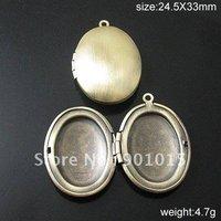 Hot sale! Free shipping Brass Locket Photo Pendant,23X30mm,hole:1.5mm,ID20097