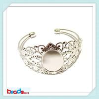 Beadsnice unique Brass Bracelet blanks antique brass 25x18mm Bangles Bracelet Base settings for jewelry making ID24913