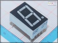 "Free shipping (50Pcs/lot) Wholesale 0.56"" inch 1 Digit 7 Seven Segment Red Light LED Numeric Digital Display,Common Cathode"