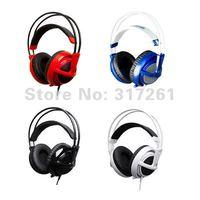 SteelSeries Siberia v2 Full-size DJ Gaming Game Headset Headphone+USB 7HV2 Sound Card+Extension Cable+Bag +Black,Red,Blue,white