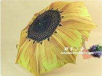 A single day in Los NIELLO sunflowers umbrella sun umbrella sunshade UV silver colloid super sun umbrella NEW