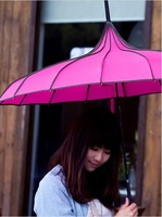 A pagoda umbrella creative  long umbrella and umbrella fabric (6 colors)
