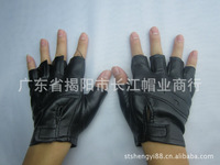 2pair fashion Soft real half finger leather gloves sport gloves black gloves retail or wholesale