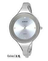 DHL/EMS Free shipping!!KIMIO brand quartz Wrist bangle watch 2012 new style.K2682L 6 colours factory supply 55PC/LOT