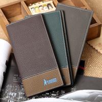 wallets 2014 men's genuine leather wallet.wallet men purse wallets for men long design 3colors free shipping W22
