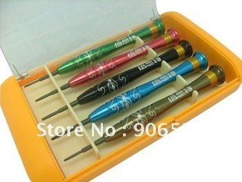 Free shipping 5 in 1 BEST-668s screwdriver set for iphone4 4G Ph000 Ph00 T6 T5 5 Point Star Pentalobe Torx screwdriver set