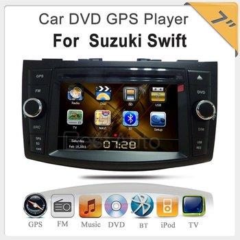 "car dvd player 7"" Digital Touch screen with IPOD GPS TV Bluetooth car radio player for SUZUKI SWIFT  High Resolution:RGB 800*480"