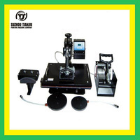 TJ 5 in 1 multifunction Heat press machine,combo heat transfer machine