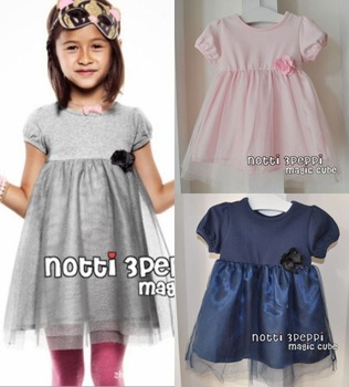 EMS/DHL Free shipping kids girls elegant princess tulle dress for Summer magic cube tulle dress Kid Clothing 2 colors 2-8 years