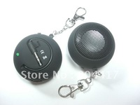 Hot sale!!! Free Shipping New Cute Mini Hamburger Portable Speaker 3.5mm for iPhone 4/4S /PC/ MP3 MP4 Gaming Devices player