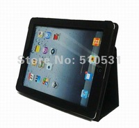 HOT Popular PU Leather stand pouch normal case for ipad 2/3/4,retail and wholesale,freeshipping