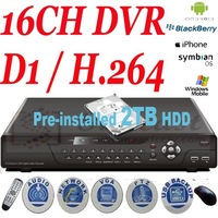 Free Shipping 16CH Standalone DVR Cctv Dvr Recorder D1 H.264 16ch Dvr Home and Business Security Dvr Black SY-DD9116V With HDD
