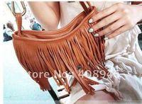 120123 free shipping  Ladies' bags 2012 New Fashion  pu dual purpose bag  tassels bag