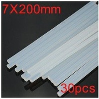 30pcs Brute Force Translucence White Hot Melt Glue Stick Environmental 7x200mm Free Shipping