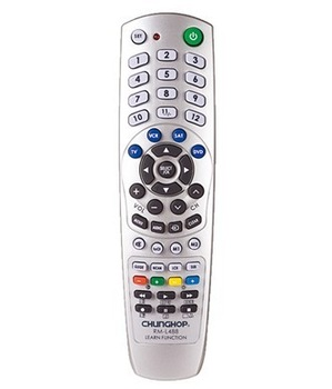 Freeshipping Chunghop RM-L488 2*AAA Combinational remote controller learning for TV/SAT/DVD/VCR Sliver