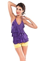 Crazy Promotion, Cpam Free Shipping! Sexy T Shirt, Fashion Top, Tee, Black/Purple Color, One size, 25028p