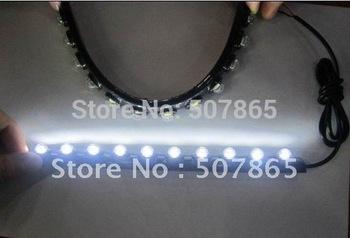 2015 new Flexible drl 12LED 10W led daytime running light Super bright condenser lens Multi-purpose flex DRL