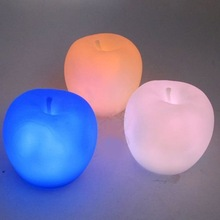 5X Apple Shape Colors Changing Cute Lamp Colorful LED Lamp Decoration Night Light k0014(China (Mainland))