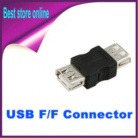 200 Pieces Free Shipping USB Cable Coupler Extension Connector Female to Female