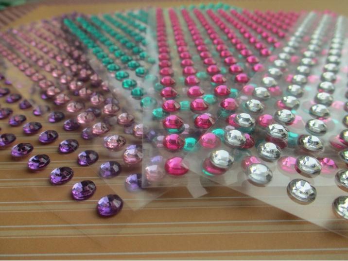 4mm Round Pearl Sticker Rhinestone Sticker 300pcs sheet Wholesale Decorative Jewelry Self adhesive Stickers Free Shipping