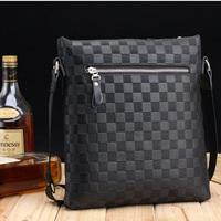 high quality soft leather men messenger bag shoulder bag