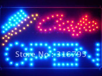 led133-b Cafe OPEN Bar Beer Led Neon Sign WhiteBoard