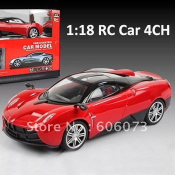 Free Shipping 1:18 4-Channel Remote Car Toy Car Remote Control Car in Red Color