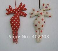 christmas decoration-christmas ornament-christmas reindeer hanger-cotton & linen fabic-4designs-by randomly-free shipment