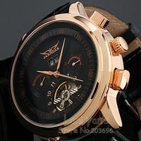 2014  JARAGAR Luxury Watch Men Tourbillon Automatic Wrist Mechanical Watches Free Shipping Gift