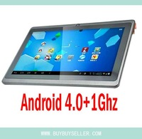 freeship GOOD SGpost!Christmas Gift! 7 incn 7&quot; android 4.0 thinest 512MB 4GB HD wifi 5Point capacitive touch Tablet PC Q88 2160P